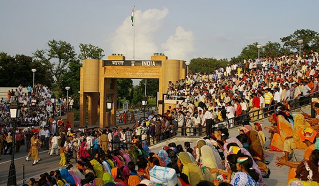 A view of the Wagah Border