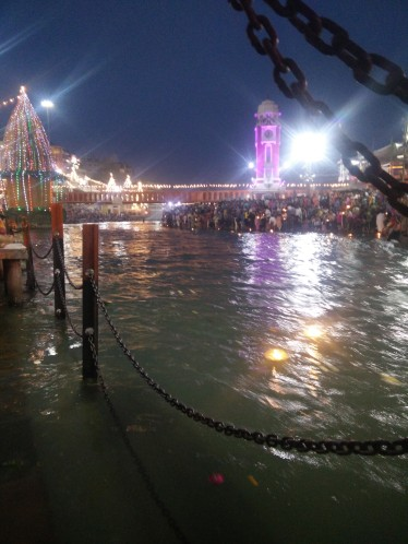 The Ganges at night