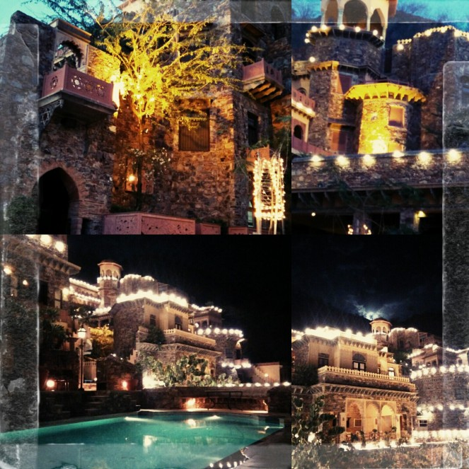 Evening view of the gorgeous palace