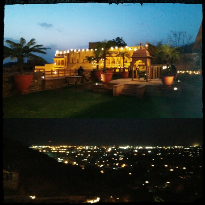 Night view of the fort